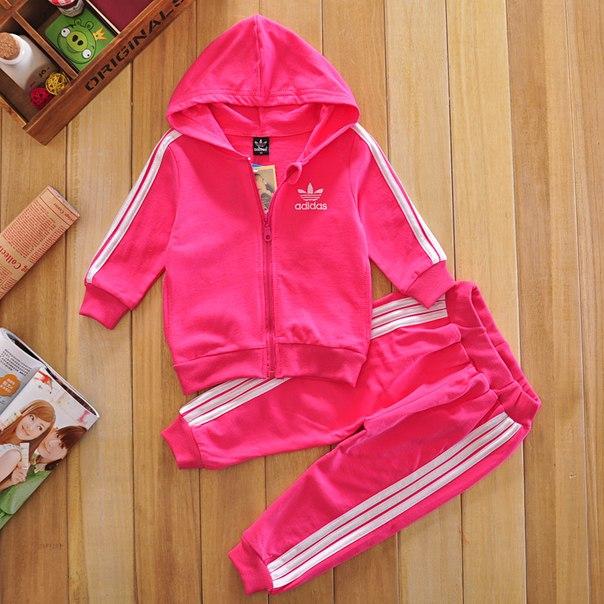 fd862b00 Детский малиновый спортивный костюм Adidas (реплика) (Артикул: 714)