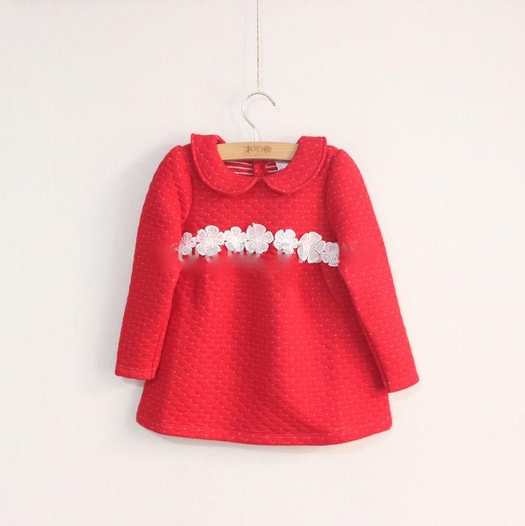 Теплое платье детское фото
